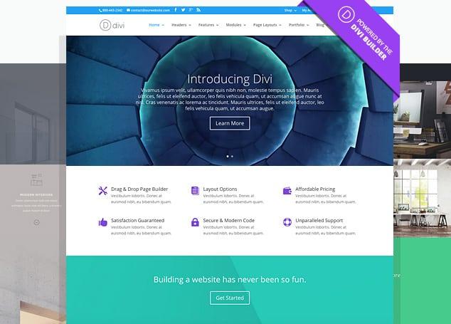 Divi WordPress Theme Beispiel