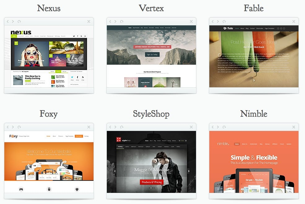 Elegant Themes: Beispiel WordPress Themes