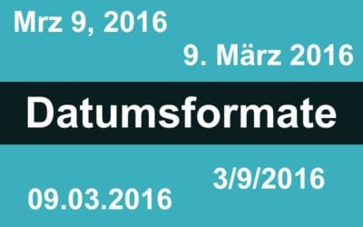 Datumsanzeige im Blog ändern