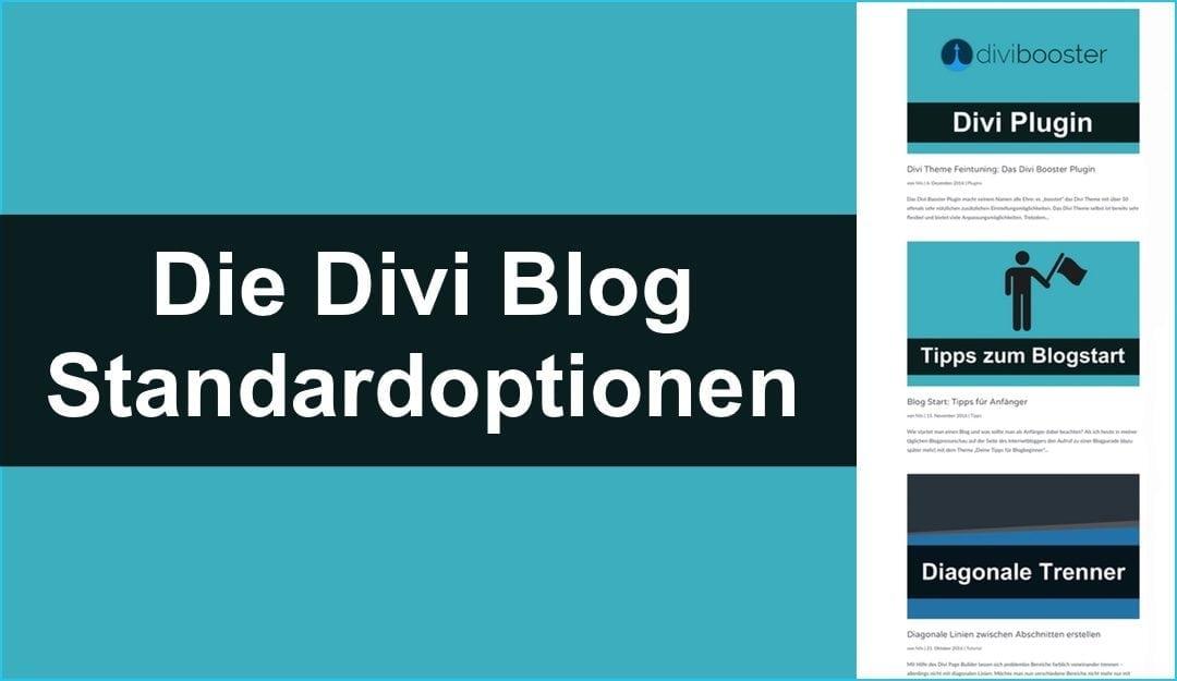 Die Divi Blogansicht: Standardoptionen verstehen & nutzen
