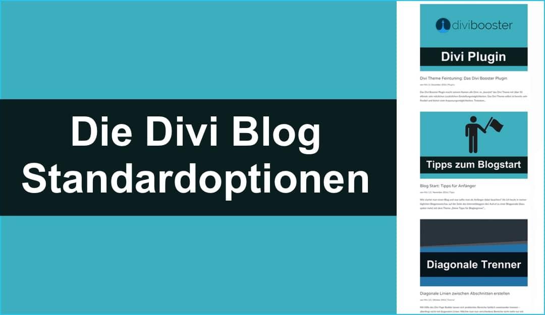 Divi Theme: Blog Standardansicht nutzen