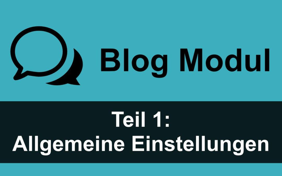 Divi Blog Modul 1: Allgemeine Einstellungen