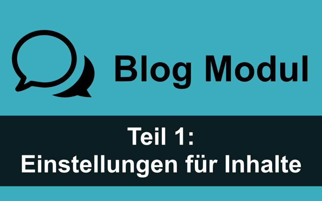 Divi Blog Modul 1: Einstellungen für Inhalte