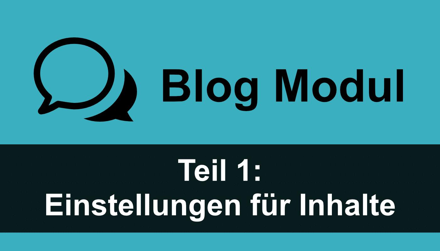 Divi Theme Blog Modul: Einstellungen für Inhalte