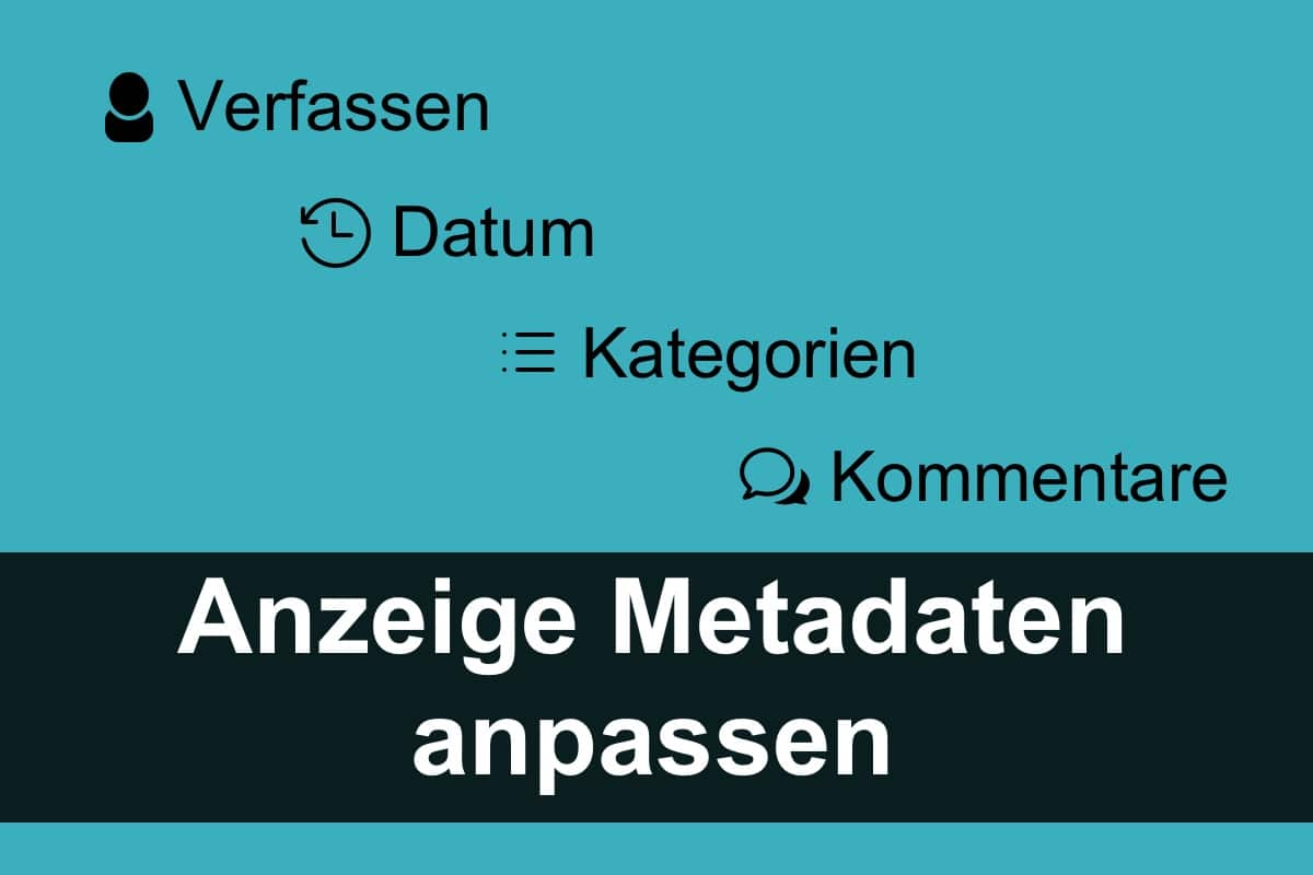 Divi Theme: Anzeige der Metadaten anpassen