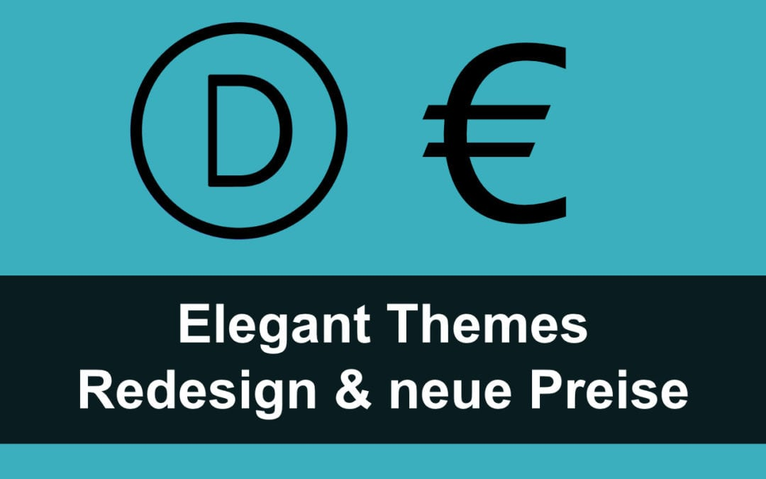 Elegant Themes: Neues Design & neue Preise