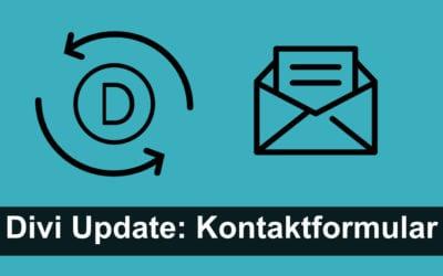 Divi Update (3.51): Verbessertes Kontaktformular