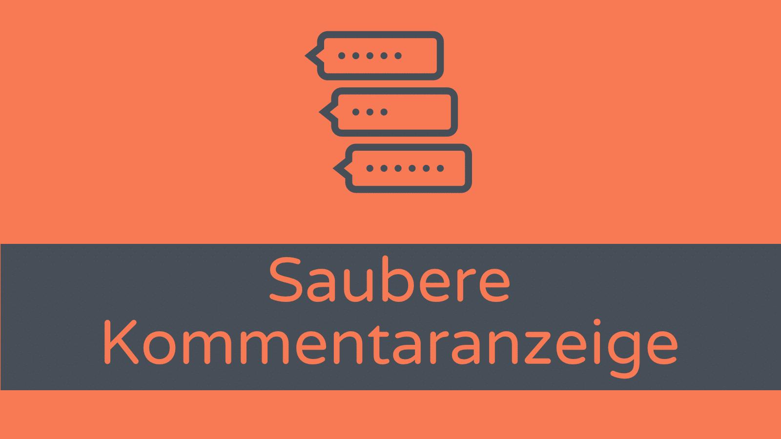 Divi Theme: Saubere Kommentare