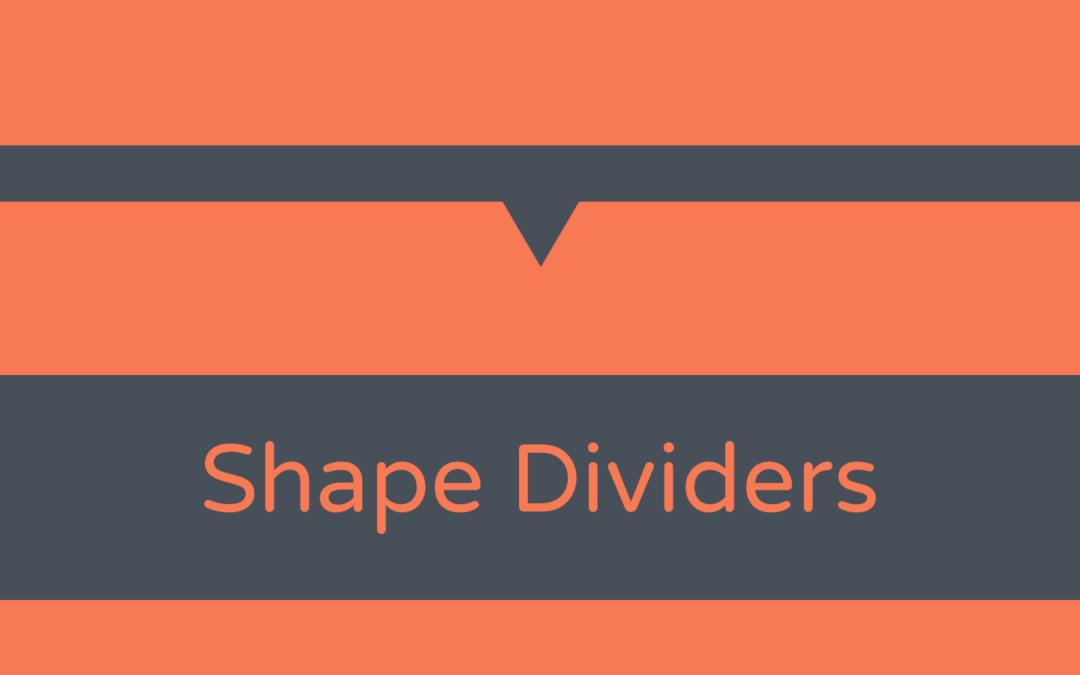 Shape Dividers: Gestaltete Übergänge für Sektionen verwenden