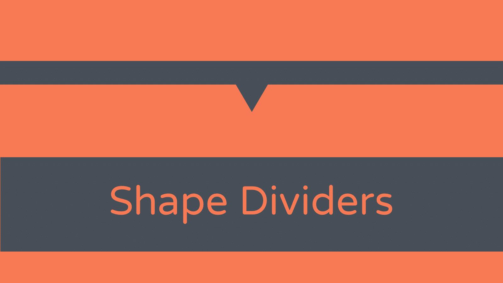 Divi Theme Shape Dividers: Übergänge gestalten
