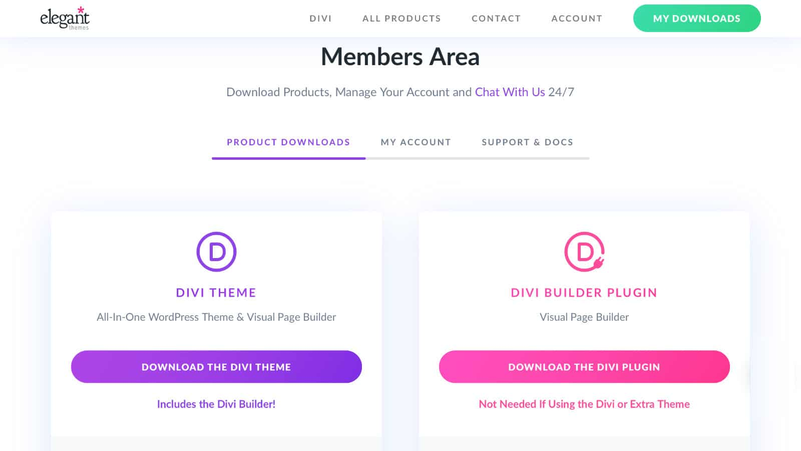Divi Theme installieren: Download
