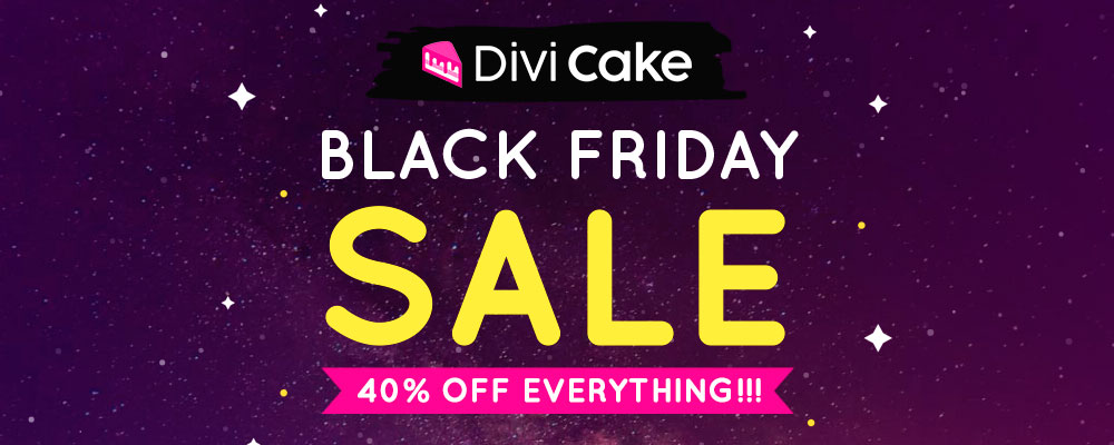 Divi Cake: Black Friday Deal