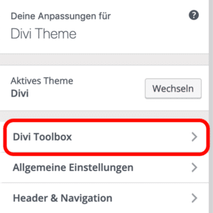 Divi Toolbox Plugin Customizer Designmodifikator