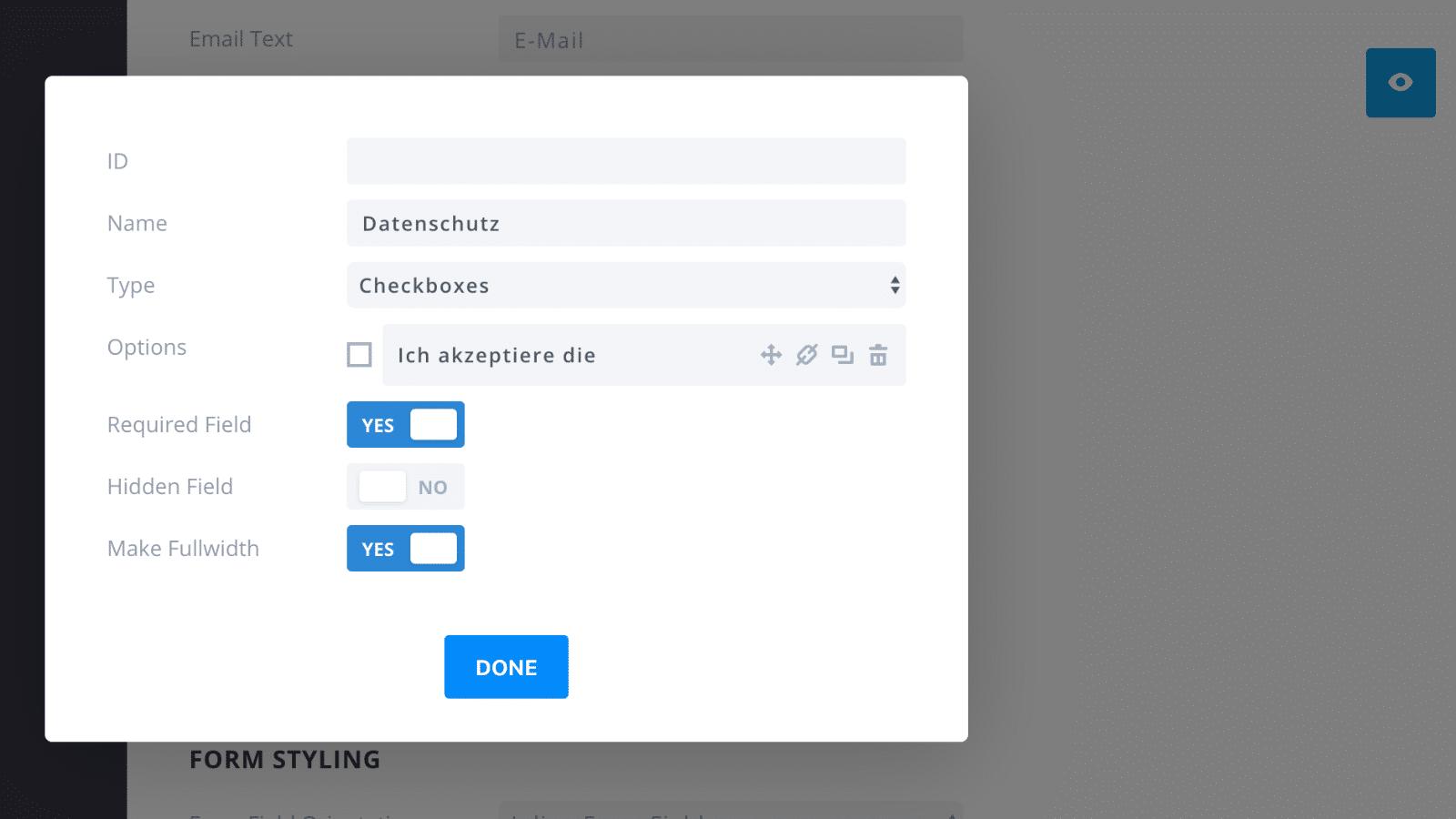 Bloom Plugin Custom Field DSGVO Checkbox
