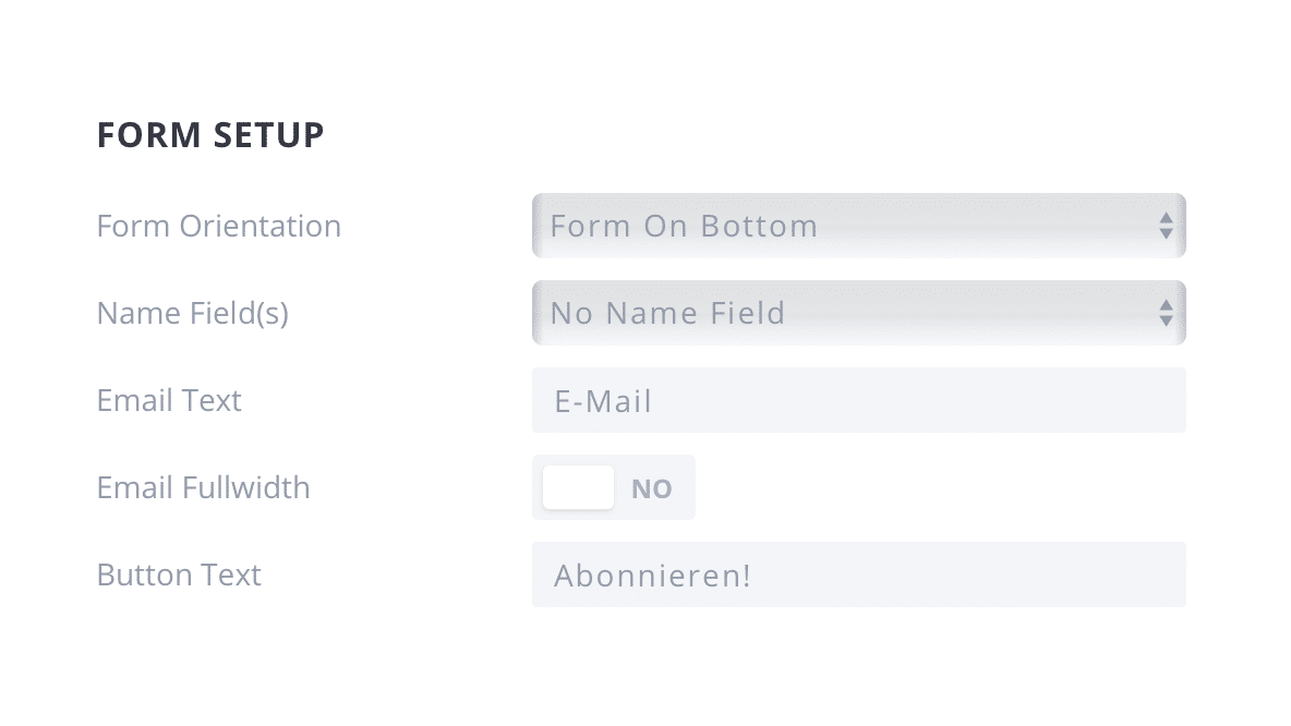 Bloom Popup Plugin Design Form Setup