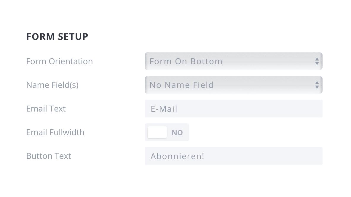 Bloom Popup Plugin Design Form Setup