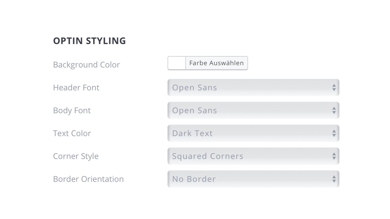 Bloom Popup Plugin Design Optin Styling