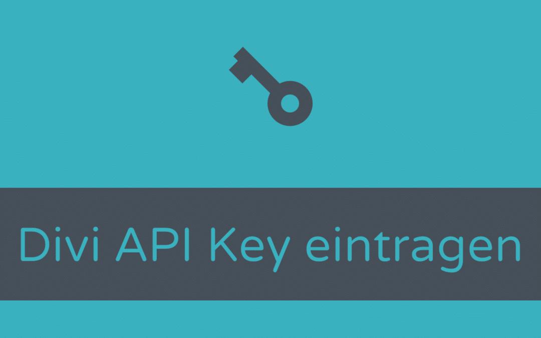 API Key für Updates und die Layout Bibliothek eintragen
