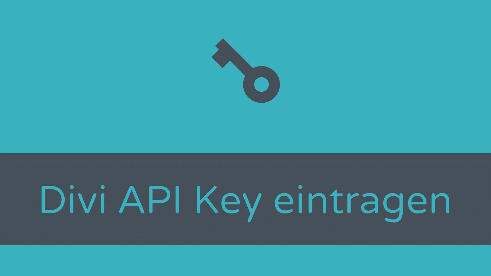 Divi Theme Update: API Key eintragen
