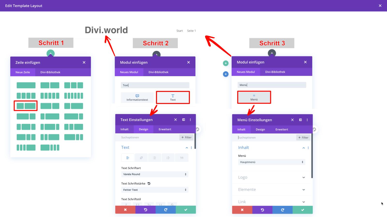 Divi Theme Builder: Custom Header Layout