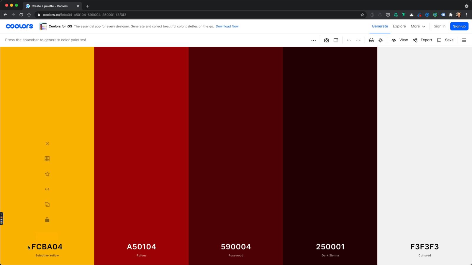 Divi Theme Farben: eigene Palette