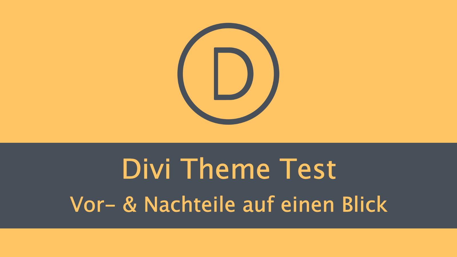 Divi Theme Test